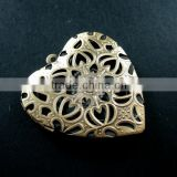 39mm big filigree heart shape vintage style antiqued bronze flower photo locket DIY pendant charm jewelry supplies 1131051