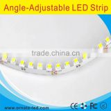 2016 new product 60 LED per meter 2835 angle adjustable and bendable s shape flexible LED strip light NANO waterproof