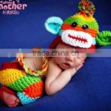 Crochet Animal Outfit Set Photography Props Animal Style infant Newborn Baby