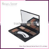 New arrival beauty 4 colors eyebrow powder palette with your own Logo
