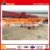 China 3 axles 40ft container semi trailer widely used new condition low price 20ft 40 feet flatbed truck trailer made in china