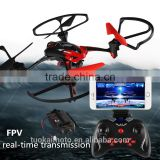 four - axis aircraft FPV real - time transmission Drone remote control headless mode aircraft toys with WIFI camera