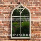 POWERLON Garden Window Mirrors Wrought Iron Frame with Fantastic Reflection Glass