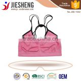 Hot sexy girl seamless backless bra neck halter young teenager underwear