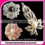 Natural pearl brooch brooches anemones shape micro Mosaic fashion