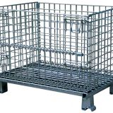 Heavy-duty Zinc Coated Wire Mesh Container , Wire Pallet Cage