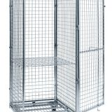 Foldable Nesting Wheel Logistics Cart Storage Wire Mesh Cage Containers