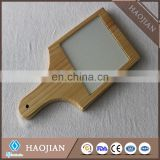 wooden cheese board with a sublimation glass tile