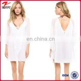 Hot see-though lace sexy woman beach dress kaftan