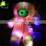 Valentines Wholesale Gift Stuffed Customized Soft Plush LED Toys Night Lighting Bear Plush Toys