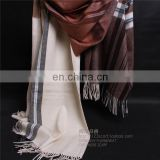 inner mongolia factory wholesale lambs wool plain woven yarn dye scarf fashion ladies winter warm classic tartan wool shawl