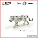 Wholesale white PVC plastic toy tiger figure for table decoration