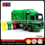 Factory sale children friction small toy car with garbage can toys