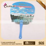 High quality custom size PP printed plastic fan,hand fans custom printed
