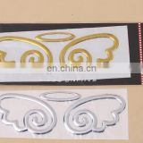 promotional DIY custom die cut self-adhesive PVC 3D chrome car sticker for car decoration