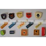 Soft Silicone Rubber PVC Clothing badges