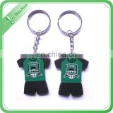 Custom team products logo keychain for the soft PVC