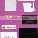 various design and coloful woven clothing label