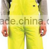Flame resistant mens work overalls with reflective strip leg and strap adjust bib coveralls