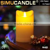 battery operated moving flame candle with USA and EU patent blow christmas with Dancing Flame