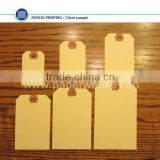 Brown kraft paper Hang tags print for clothing,gift,jeans
