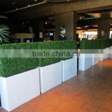Factory cheap artificial green grass fence artificial grass hedge wholesale
