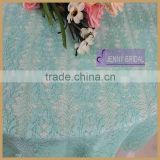 TL039A factory high quality light bean green beautiful solft lace table overlay
