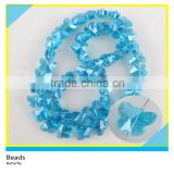 10*8 mm Sky Blue Butterfly Shape One Strands Crystal Glass Stone Beads In Bulk