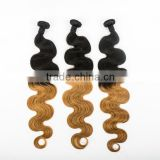 Body wave ombre color 30 inch remy human hair weft ethiopian virgin hair 7a brazilian unprocessed virgin hair