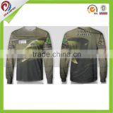 profession new design custom sublimated long sleeve fishing shirts                                                                         Quality Choice