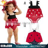 2016 summer beauiful swimwear children bathing suit baby girls cute dots printed girls bikinis swimsuit