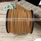 ST1035 Light Brown Flat Leather Cords, Jewelry Beading Thread Lace                                                                         Quality Choice