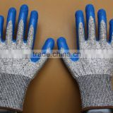 en388 cut resistant hand gloves,nitrile coated bamboo work garden glove