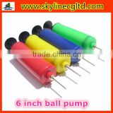 6 inch Mini hand air pump for basketball,soccer ball