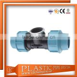 PP Compression Pipe Fitting for HDPE Water Pipe