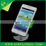 40g clear acrylic mobile phone rack for android system, crystal perspex cellphone display stand with 50*15*105mm