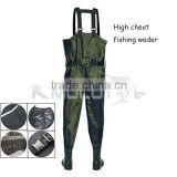 Kmucutie CHN-81206 nylon PVC fishing waders breathable waterproof fishing wader boots