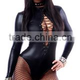 Fishnet Mini Punk Fetish Black Erotic Sexy Plus Size Bandage Latex PVC Leather teddy Lingerie