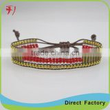 China factory fashion lastest handmade braided cord bell bracelet for sale