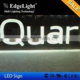 Edgelight Edgelux Panel acrylic led backlit sign
