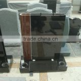 European style book shape granite tombstone