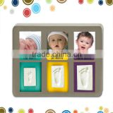 Beautiful baby handprint photo frame in destop double frame