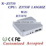Mini PC With Wifi Intel Z3735F,4*USB 2.0,DDR3 2G RAM 32G SSD ,Window 7/8/8.1/Linux Etc,Desktop Computer