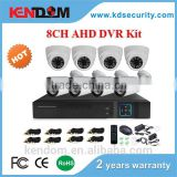 2016 The Hottest CCTV 8CH AHD Kit 4xIndoor + 4xOutdoor CCTV Kit 8 Channel H 264 DIY Your Interested DVR System