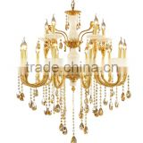 Europe royal Style Classical full Copper Baccarat crystal luxury light hotel Chandelier For High Ceiling crystal 265-3H