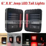 "6"" x 8"" flat mount LED Tail Light Plug & Play replacement for Jeep Wrangler (JK) & Wrangler Unlimited (JKU)"