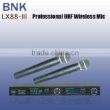 Pro 2 channels metal wireless microphone LX88-III