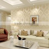 polyester non-woven compound adhesive wallpaper embroidery wallpaper and wallpaper                                                                         Quality Choice
