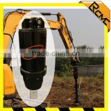 Fence post hold digger machine for backhoe