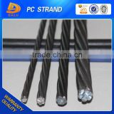 Post-tension 15.2mm unbonded pc steel strand made in china